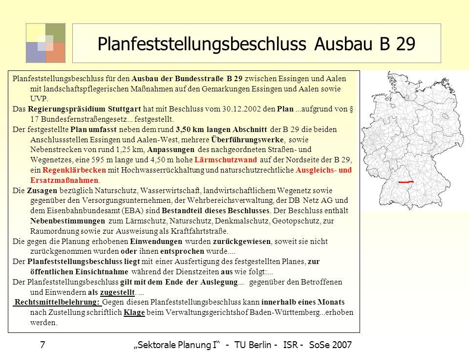 Planfeststellungsbeschluss Ausbau B 29