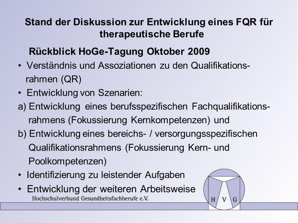 Rückblick HoGe-Tagung Oktober 2009