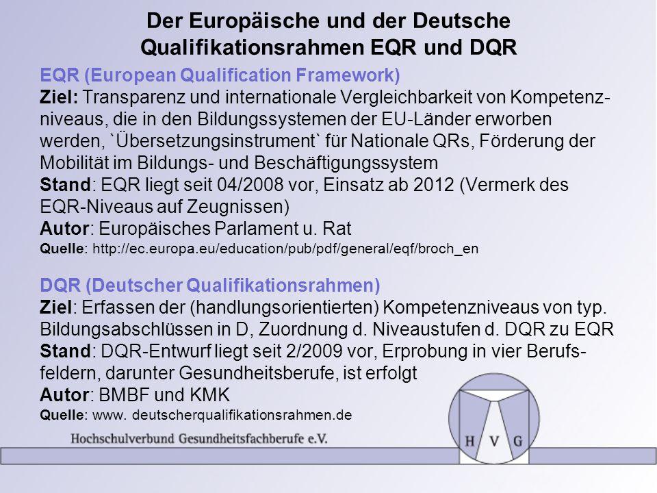 Der Europäische und der Deutsche Qualifikationsrahmen EQR und DQR