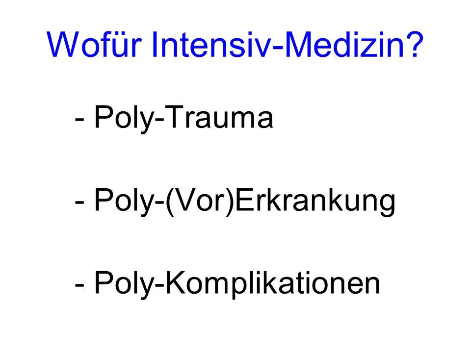 Wofür Intensiv-Medizin