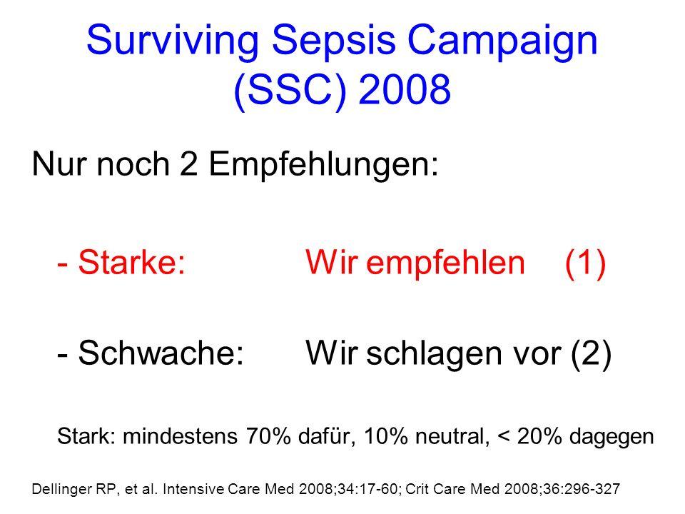 Surviving Sepsis Campaign (SSC) 2008