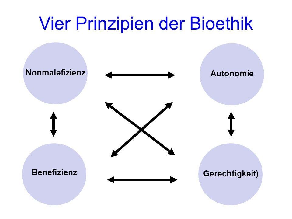 Vier Prinzipien der Bioethik