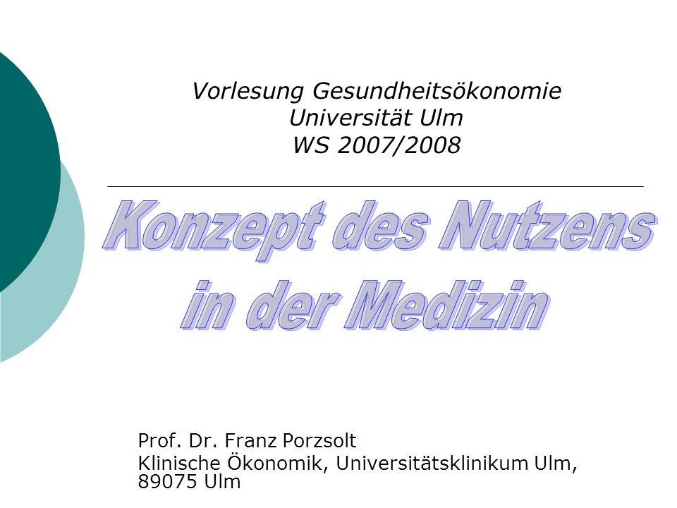 Vorlesung Gesundheitsökonomie