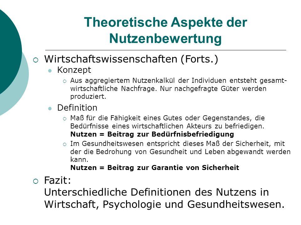 Theoretische Aspekte der Nutzenbewertung