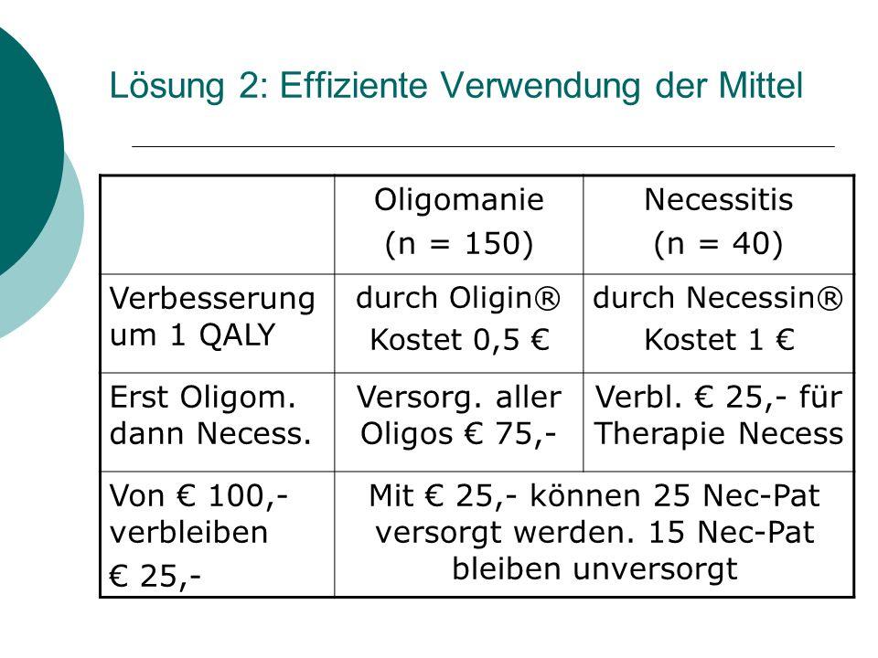 Lösung 2: Effiziente Verwendung der Mittel