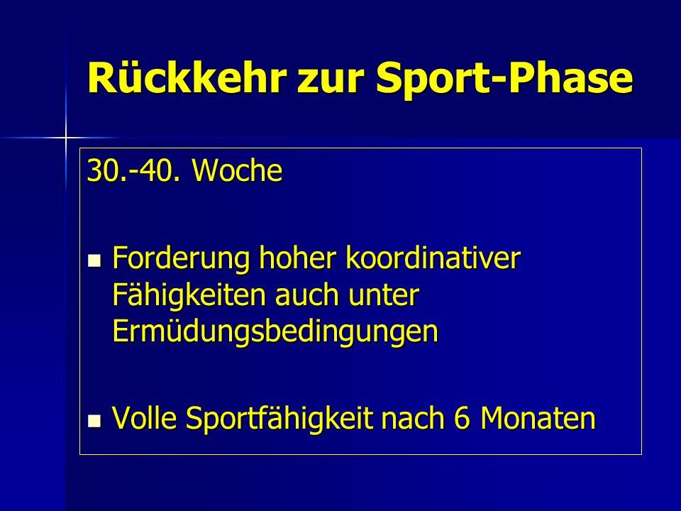 Rückkehr zur Sport-Phase