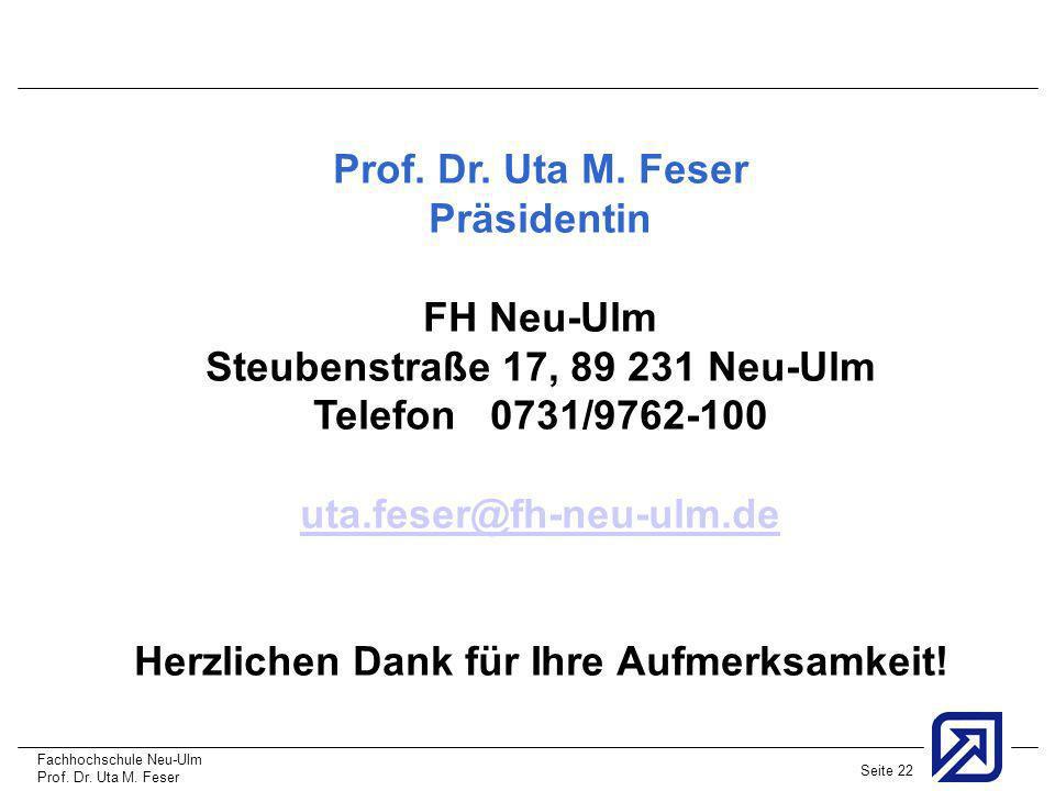 Steubenstraße 17, 89 231 Neu-Ulm Telefon 0731/9762-100