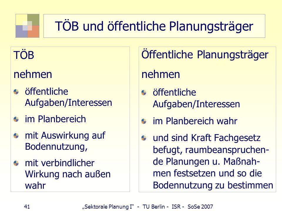 TÖB und öffentliche Planungsträger