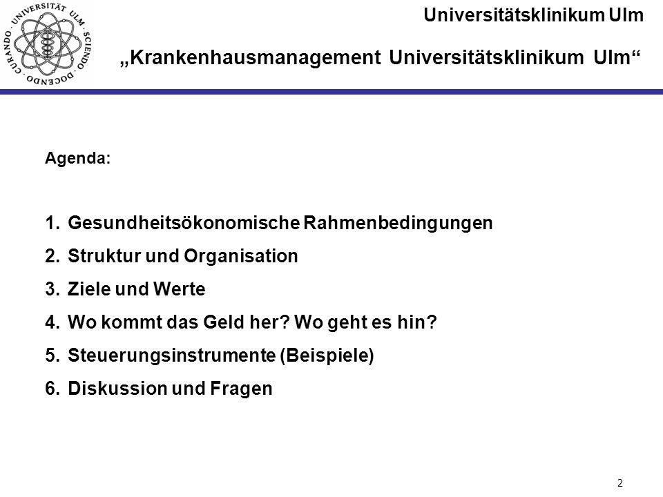 """""""Krankenhausmanagement Universitätsklinikum Ulm"""
