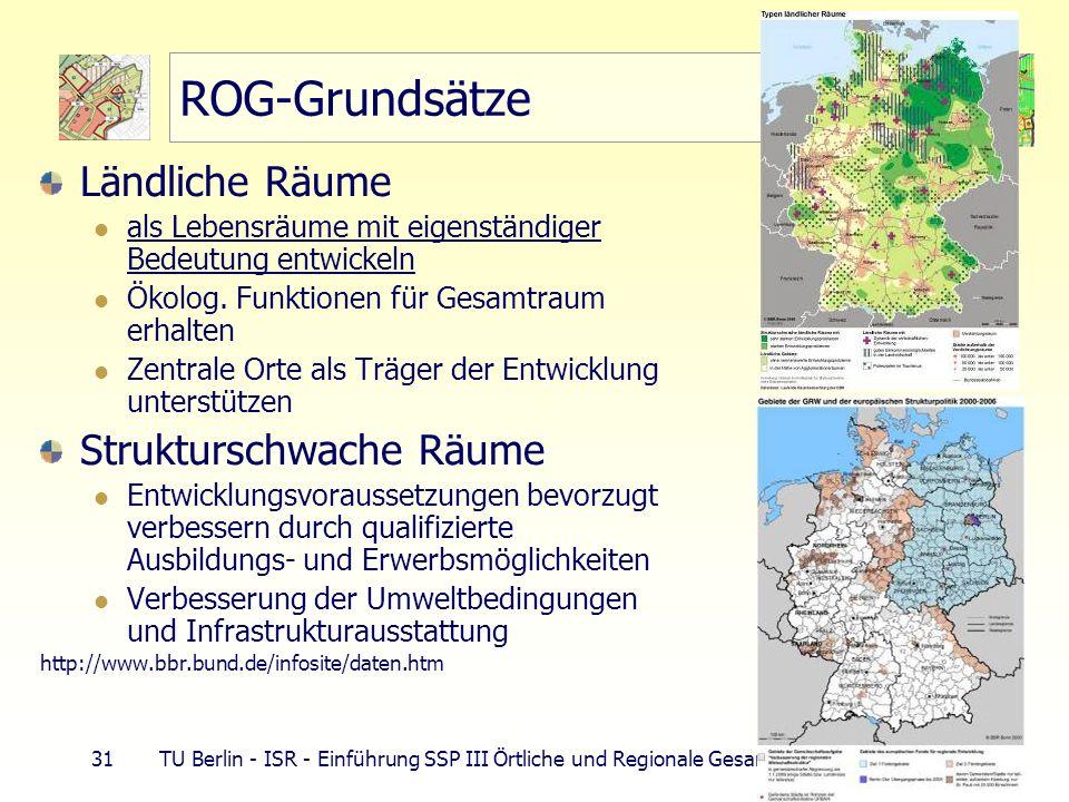 ROG-Grundsätze Ländliche Räume Strukturschwache Räume