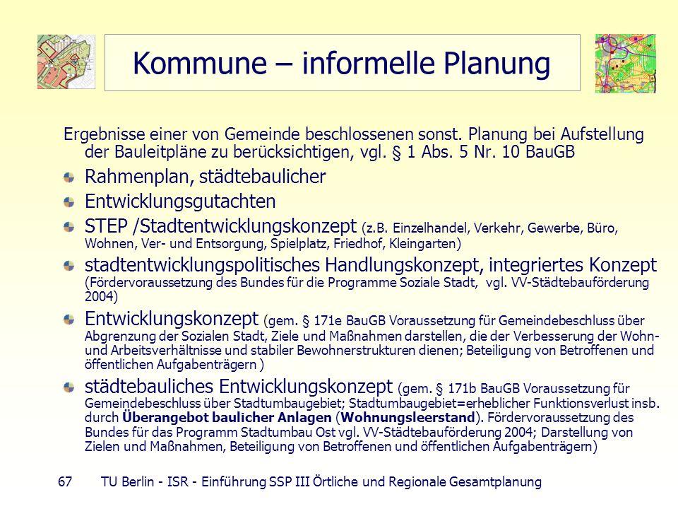 Kommune – informelle Planung