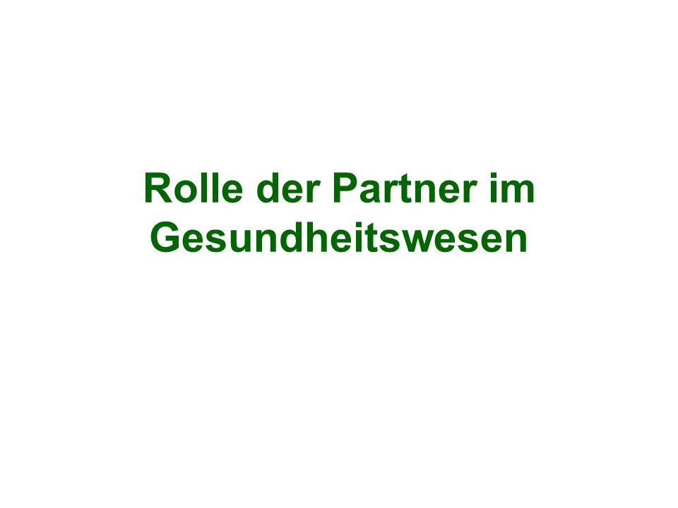 Rolle der Partner im Gesundheitswesen