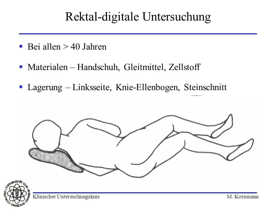 Rektal-digitale Untersuchung