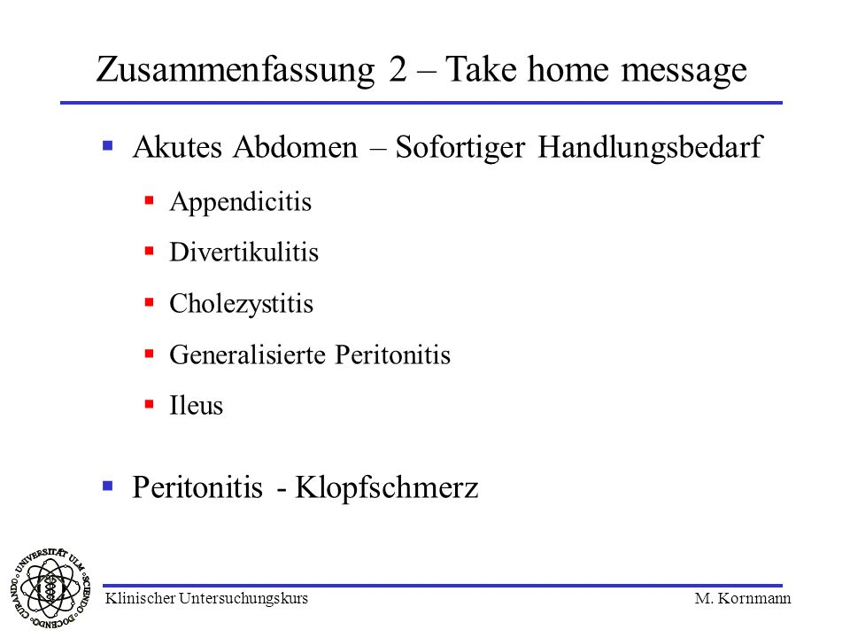Zusammenfassung 2 – Take home message