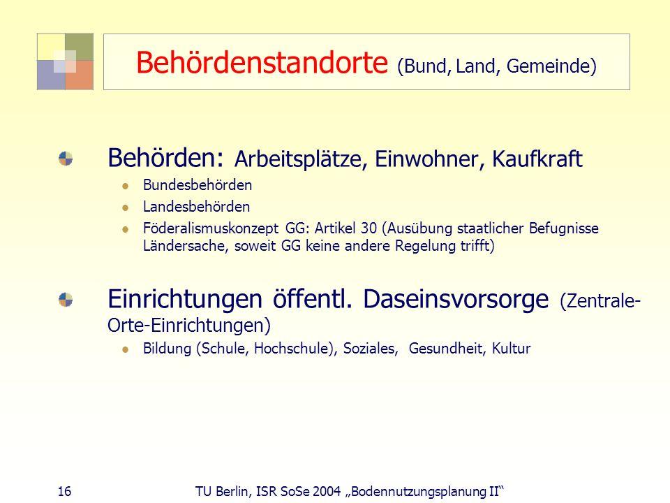 Behördenstandorte (Bund, Land, Gemeinde)