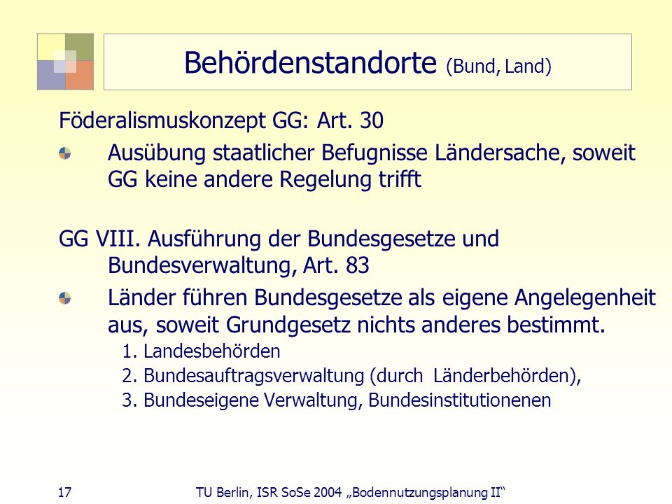 Behördenstandorte (Bund, Land)