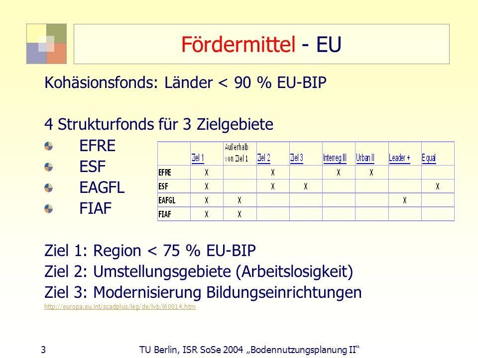 Fördermittel - EU Kohäsionsfonds: Länder < 90 % EU-BIP