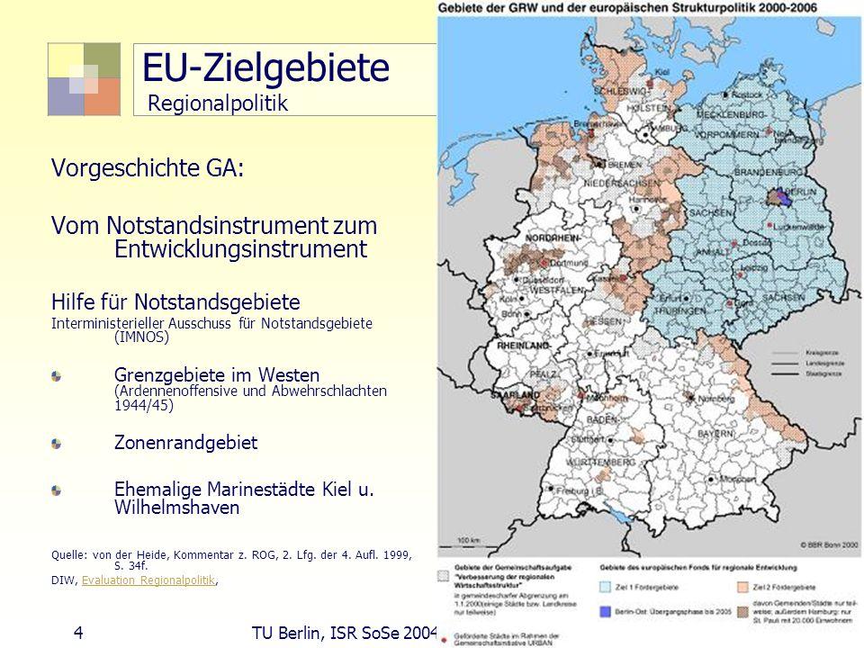 EU-Zielgebiete Regionalpolitik