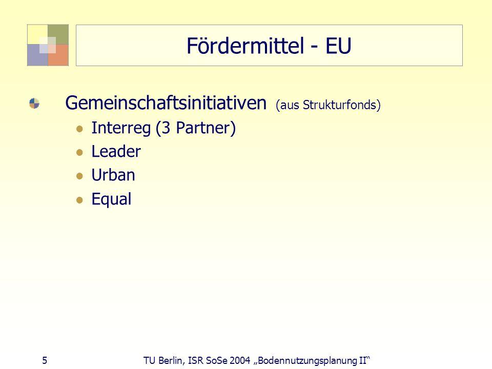 Fördermittel - EU Gemeinschaftsinitiativen (aus Strukturfonds)