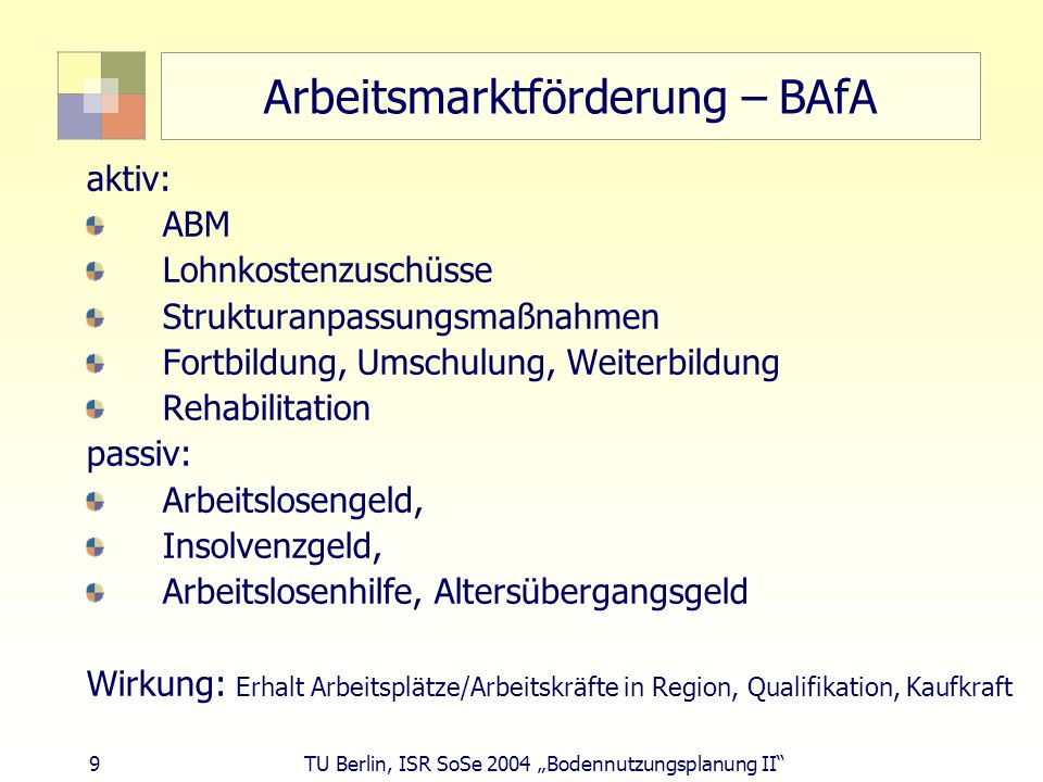 Arbeitsmarktförderung – BAfA