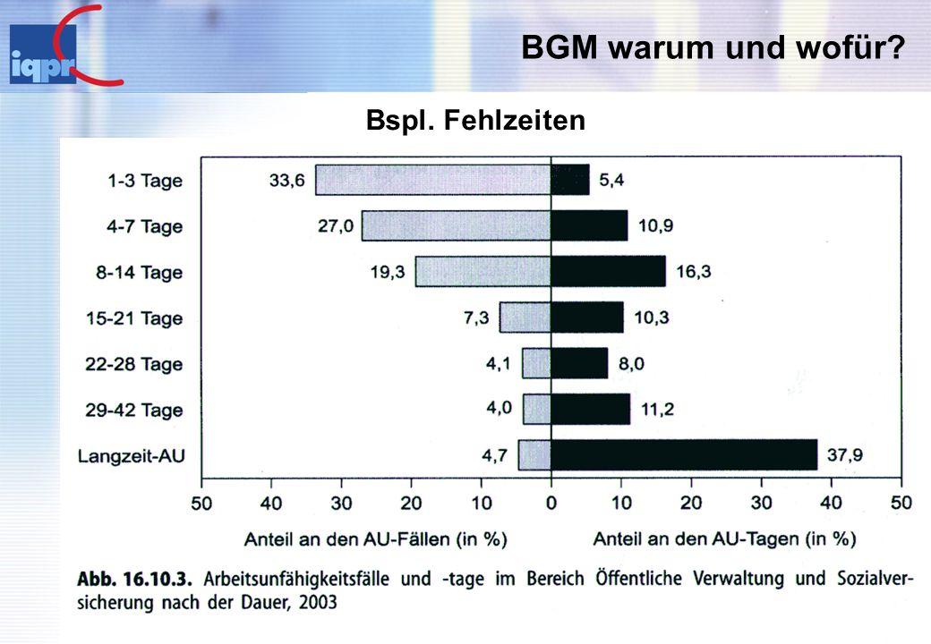 BGM warum und wofür Bspl. Fehlzeiten