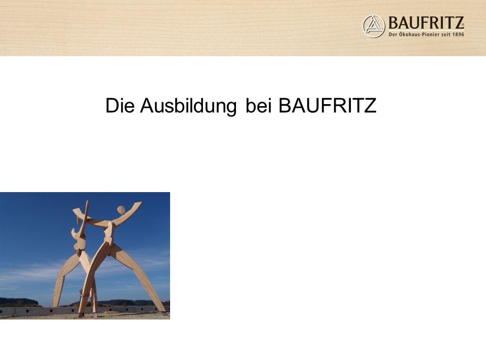 Die Ausbildung bei BAUFRITZ
