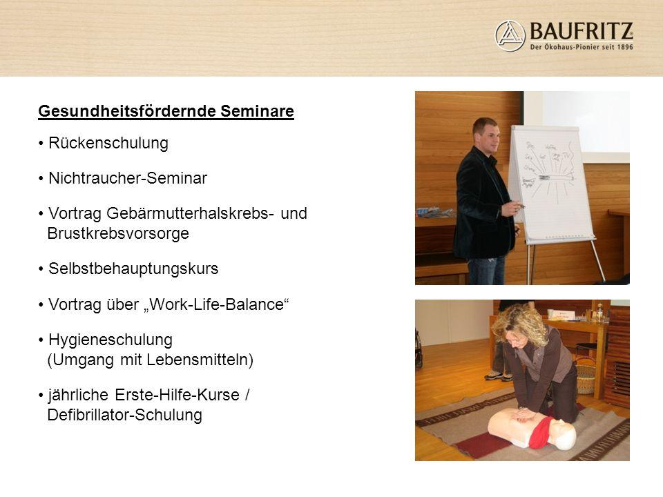 Gesundheitsfördernde Seminare
