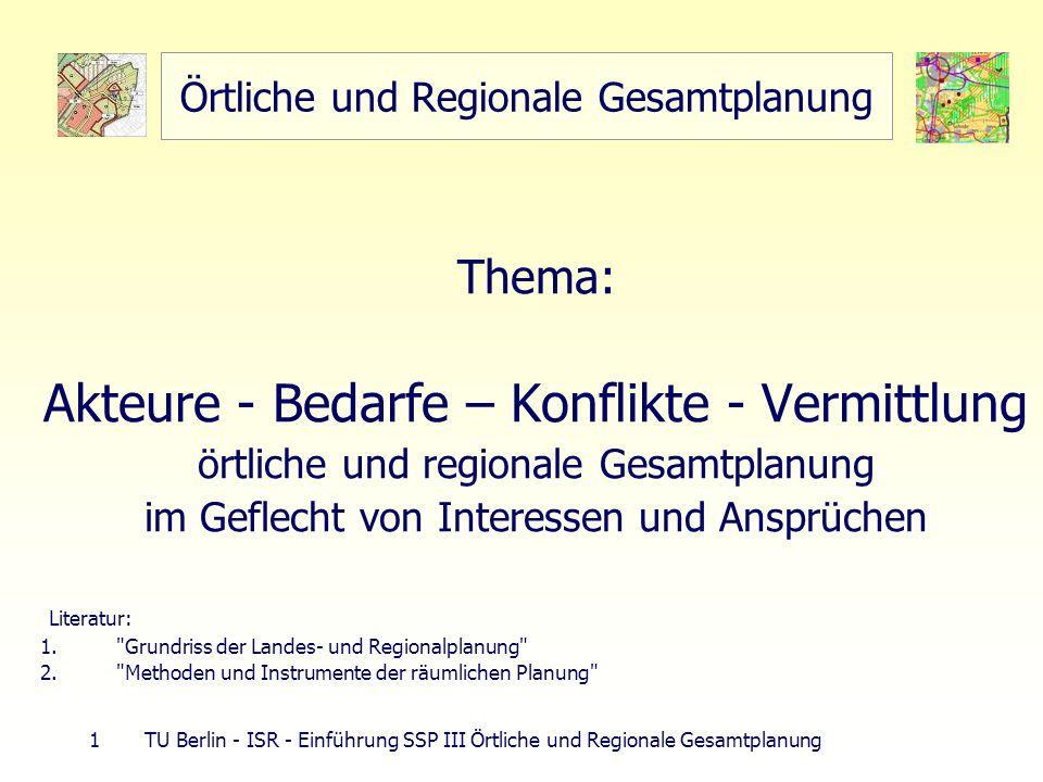 Örtliche und Regionale Gesamtplanung