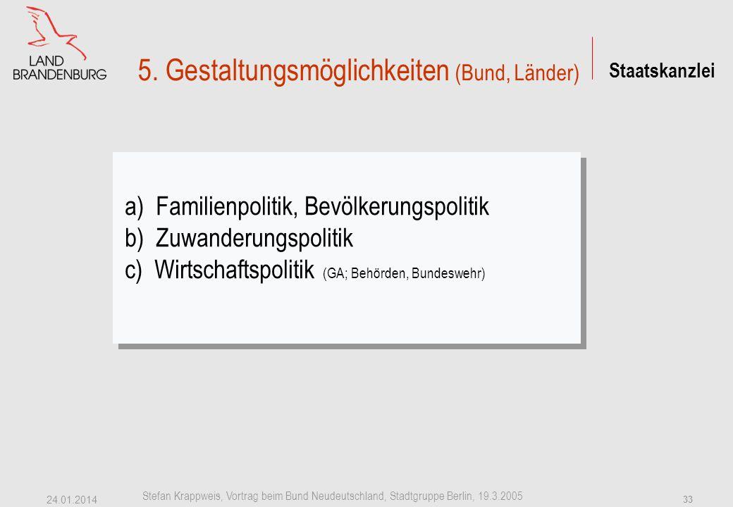 5. Gestaltungsmöglichkeiten (Bund, Länder)