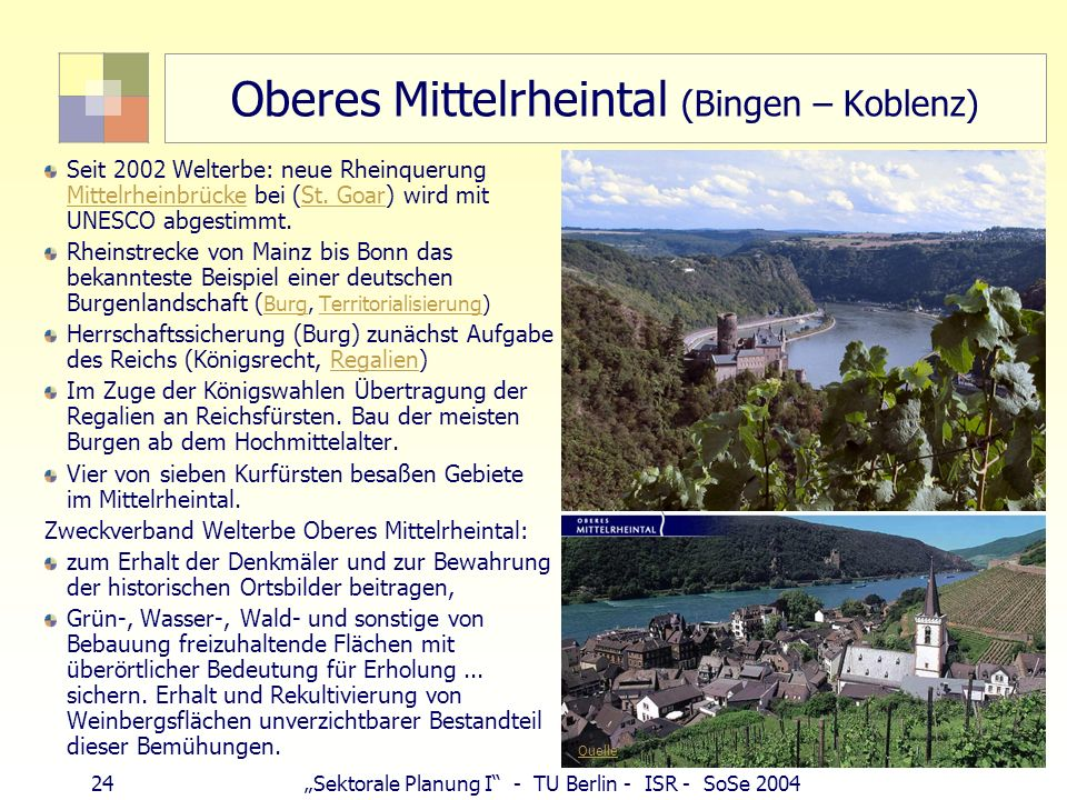 Oberes Mittelrheintal (Bingen – Koblenz)