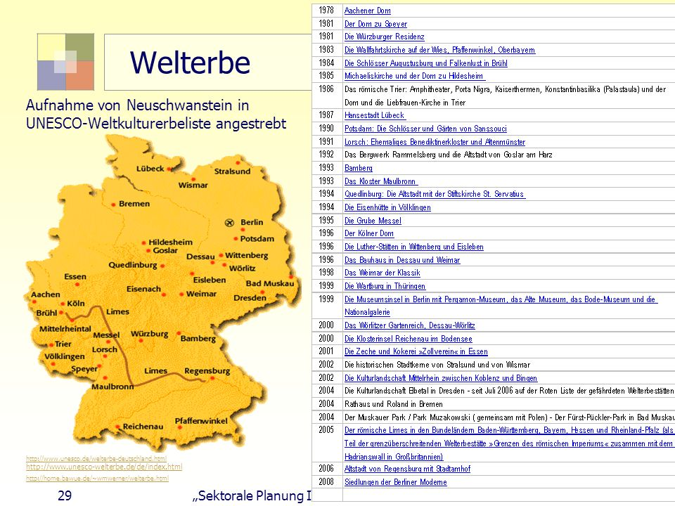 Welterbe Aufnahme von Neuschwanstein in