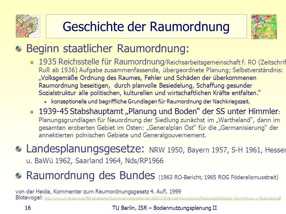 Geschichte der Raumordnung
