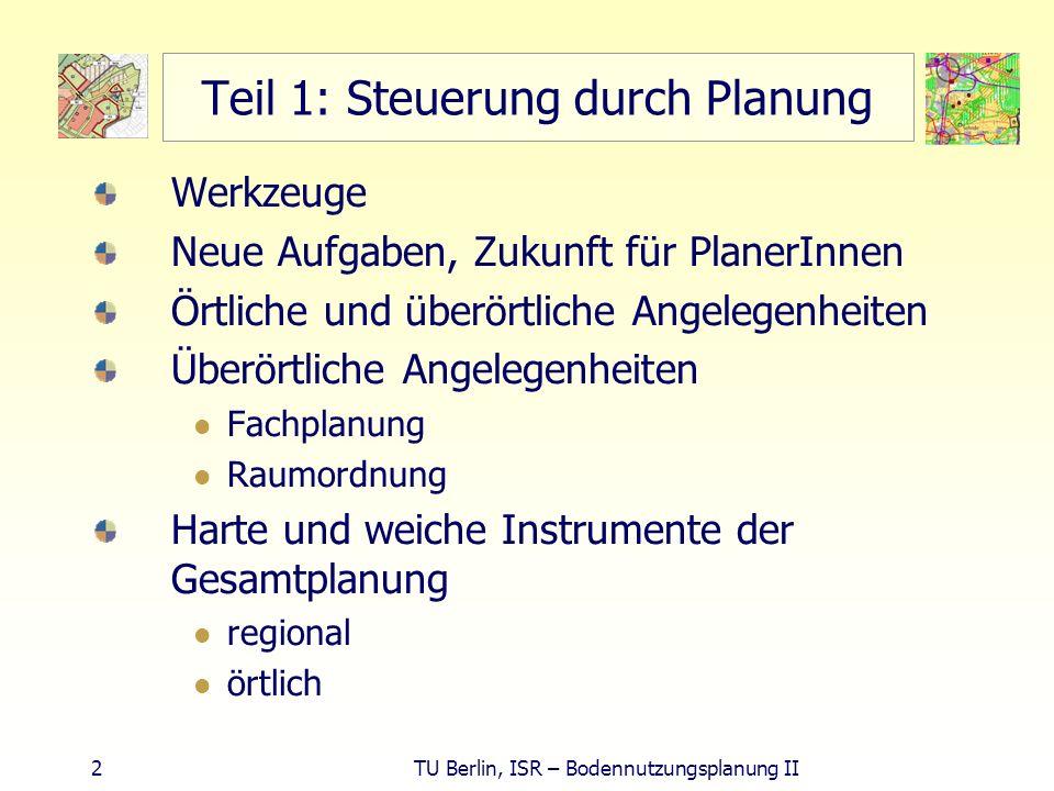 Teil 1: Steuerung durch Planung