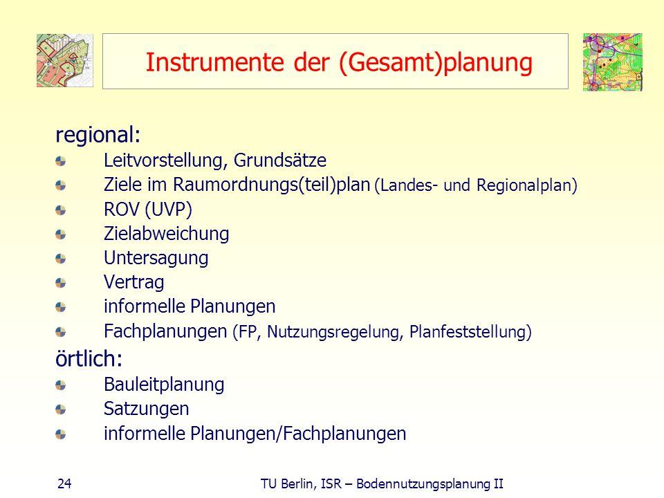 Instrumente der (Gesamt)planung