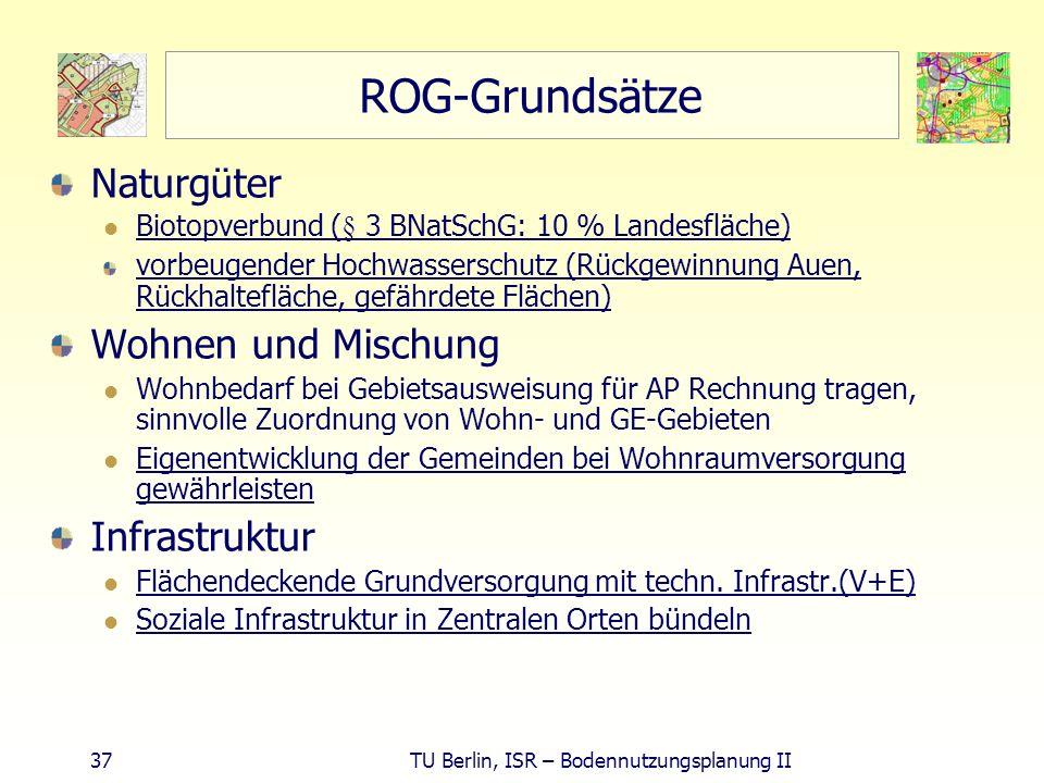 ROG-Grundsätze Naturgüter Wohnen und Mischung Infrastruktur