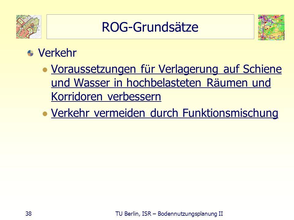 ROG-Grundsätze Verkehr