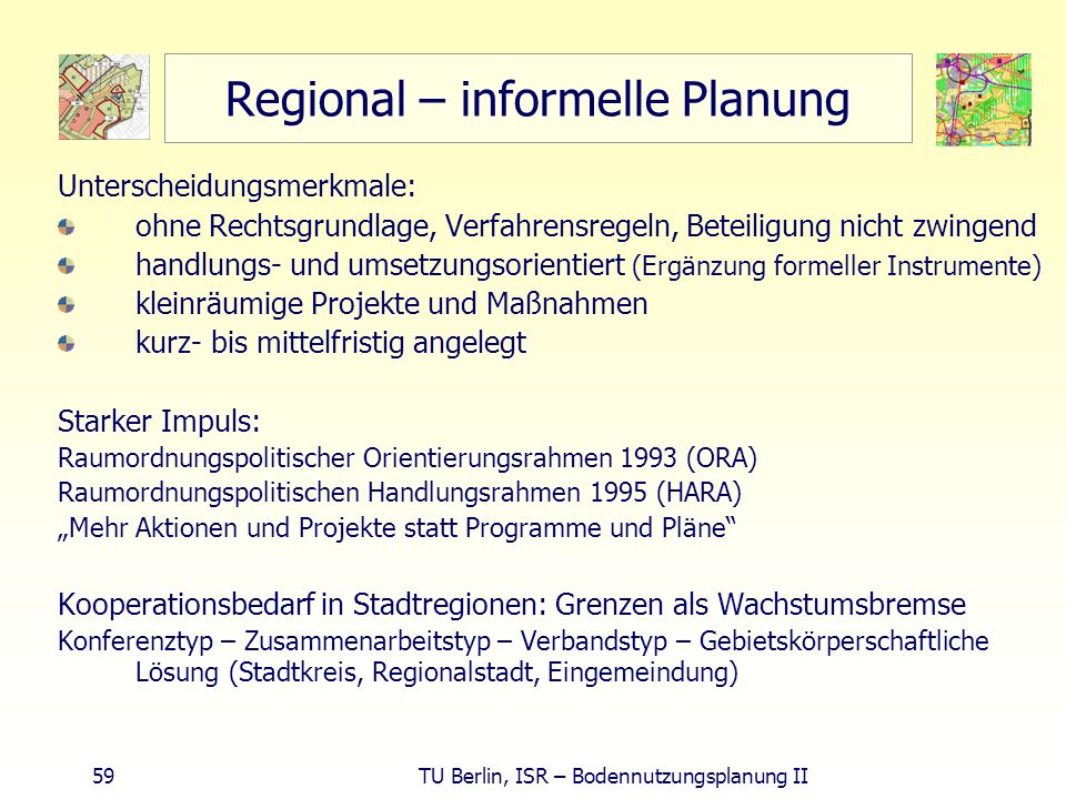 Regional – informelle Planung