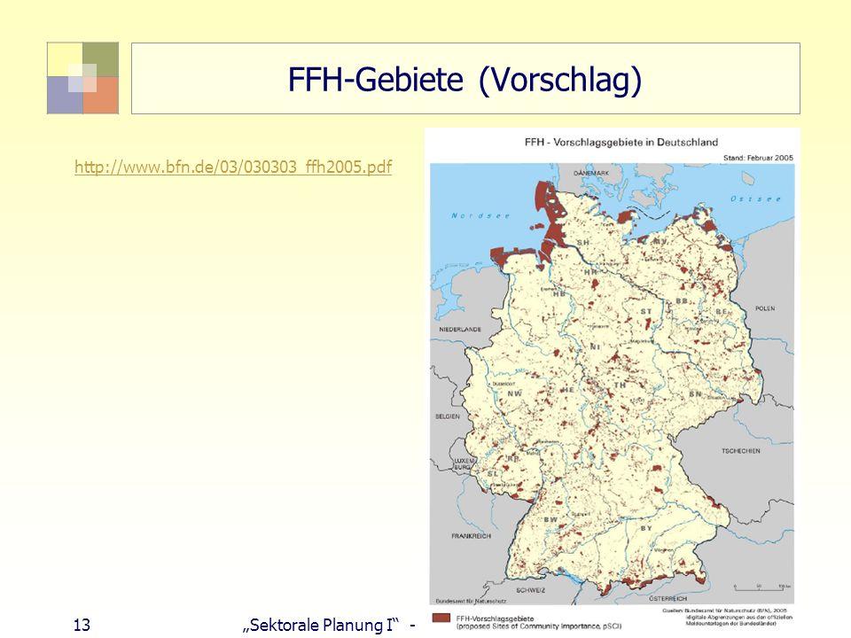 FFH-Gebiete (Vorschlag)
