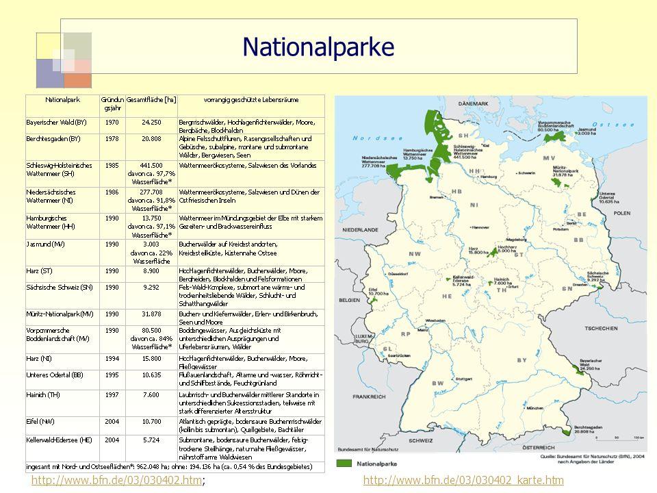 "Nationalparke 15 ""Sektorale Planung I - TU Berlin - ISR - SoSe 2007"