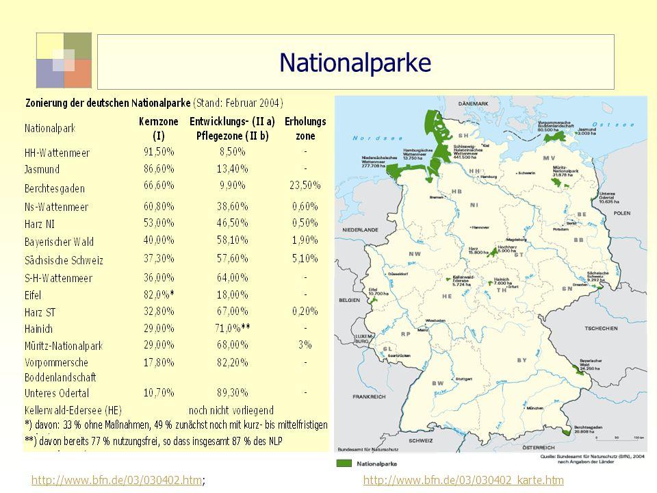 "Nationalparke 16 ""Sektorale Planung I - TU Berlin - ISR - SoSe 2007"