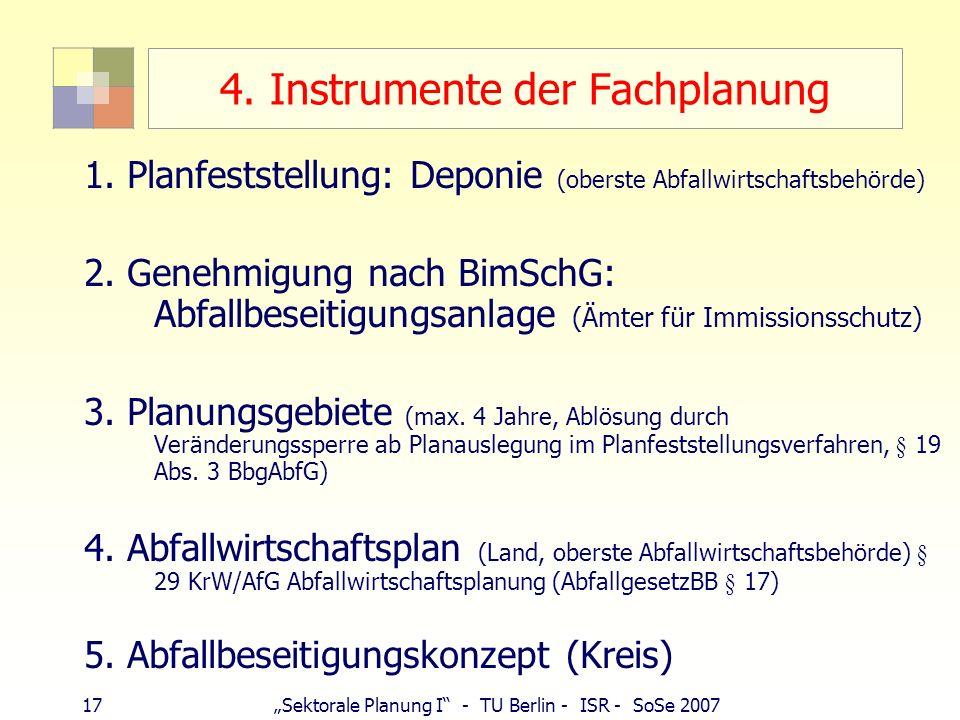 4. Instrumente der Fachplanung