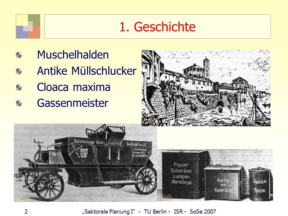 1. Geschichte Muschelhalden Antike Müllschlucker Cloaca maxima