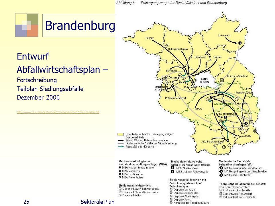Brandenburg Entwurf Abfallwirtschaftsplan – Fortschreibung