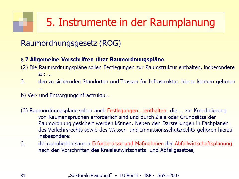 5. Instrumente in der Raumplanung