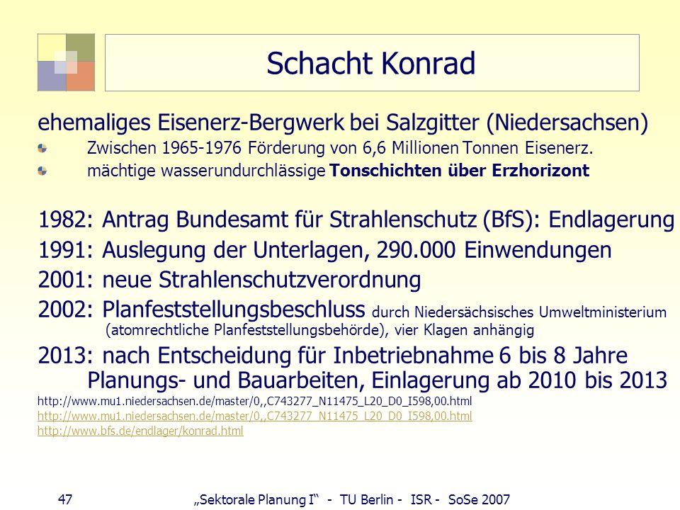 Schacht Konradehemaliges Eisenerz-Bergwerk bei Salzgitter (Niedersachsen) Zwischen 1965-1976 Förderung von 6,6 Millionen Tonnen Eisenerz.