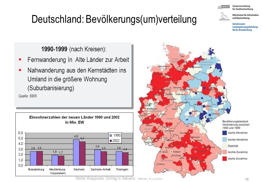 Deutschland: Bevölkerungs(um)verteilung