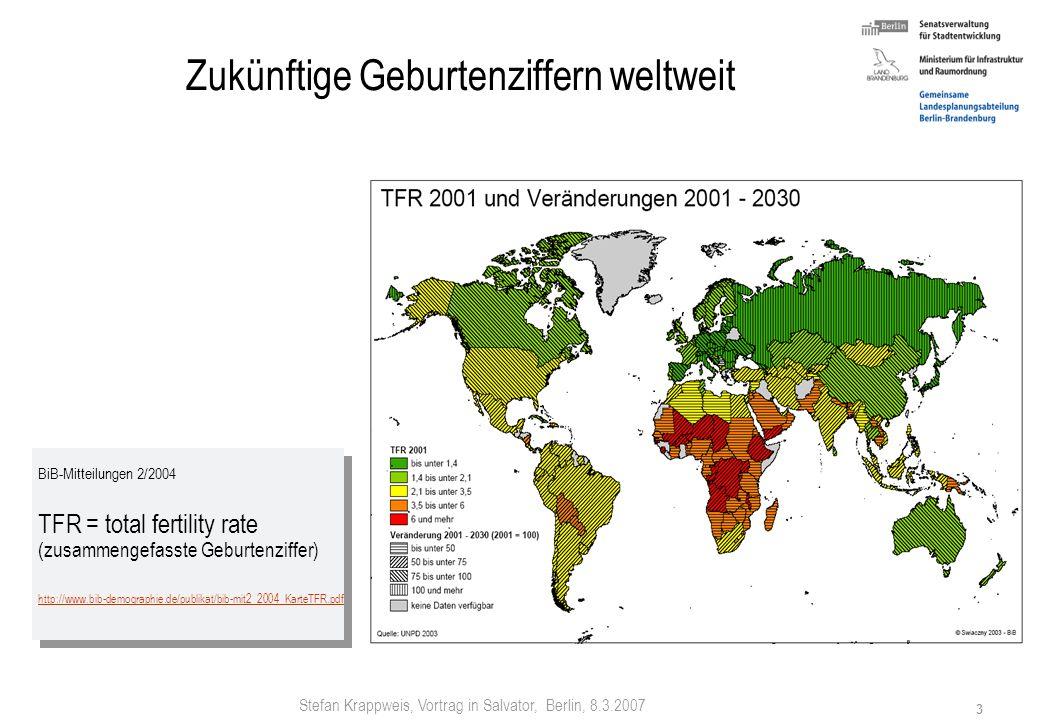 Zukünftige Geburtenziffern weltweit