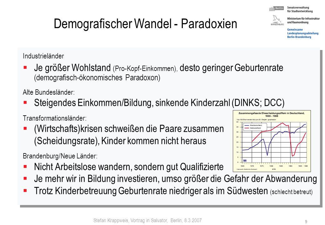 Demografischer Wandel - Paradoxien