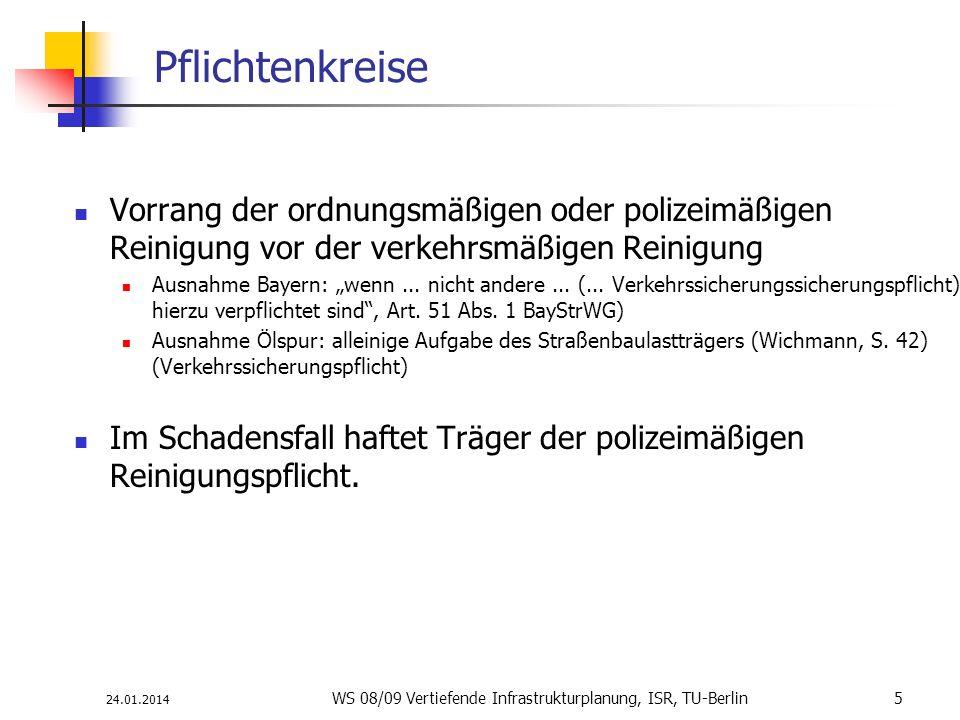 WS 08/09 Vertiefende Infrastrukturplanung, ISR, TU-Berlin