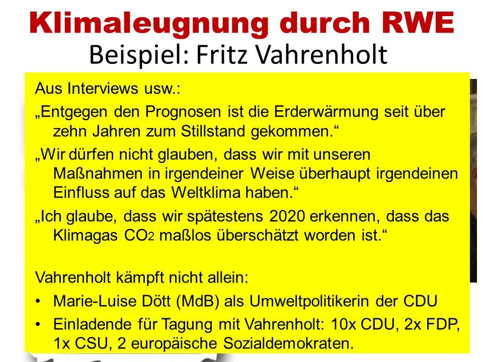 Klimaleugnung durch RWE